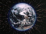 Earth Bombarded by Stars