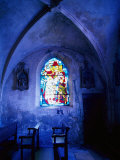 Jean D'Arc Stained Glass in Church  France