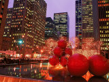 New York City at Christmas at Night  NY
