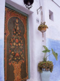 Door in Oudayas Casbah  Rabat  Morocco