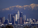 View of San Gabriel Mountain  Los Angeles