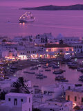 Mykonos Town at Night  Mykonos  Greece