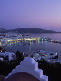 Chapel & Mykonos Town at Night  Greece