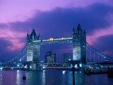 Tower Bridge at Night  London  Eng