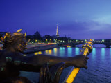 Eiffel Tower from Pont Alexander III Bridge  France