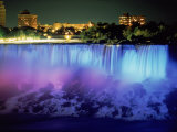 Niagara Falls with Blue Light  NY