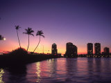 Skyline and Sunset  West Palm Beach  FL