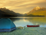 Camping  Bowman Lake  Glacier National Park  MT
