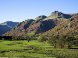 Langdale Valley in the Lake District  UK