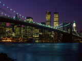 Brooklyn Bridge and Lower Manhattan  NY