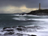 Ardnamuchan Lighthouse in Winter Storm at Sunset  Ardnamurchan  UK