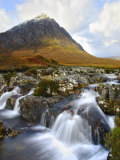 Buchaille Etive Mountain in Dawn Light  Glencoe  UK