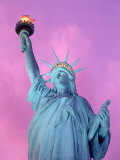 Statue of Liberty with Purple Sky  NYC