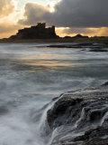 View of Bamburgh Castle at Sunset  UK