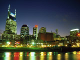 Skyline with Reflection in Cumberland River