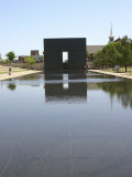 Okc Memorial  Reflecting Pool and Structure