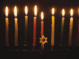 Chanukah Candles and Star of David
