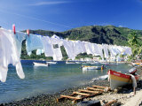 Drying Laundry on the Beach  St Lucia