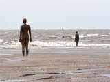 Another Place by Antony Gormley  Body Cast of Artist  Liverpool  UK