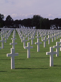 World War II Cemetery  Normandy  France