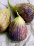 Figs on Brown Paper Background