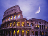 The Colosseum at Night  Rome  Italy