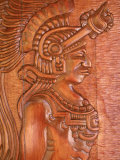 Mayan Wood Carving  Gales Point  Belize