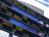 Stock Quotes on Building  Times Square  NYC