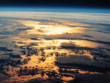 View of Sunset from Space Shuttle