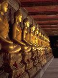Golden Buddhas  Bangkok  Thailand