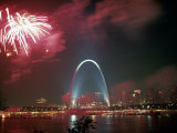 Fireworks Over St Louis Arch  MO
