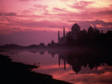 Silhouette of Taj Mahal  Agra  India