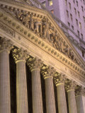 Architectural Detail of Stock Exchange  NYC