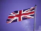 British Flag Flying on a Pole