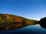 Fall Foliage and Lake  the Berkshires  MA