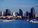 Skyline and Boats  San Diego  CA