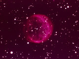 Ball of Red Gas in Space