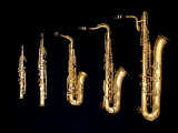 Different Sized Saxophones