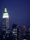 Empire State Building at Night  NYC  NY