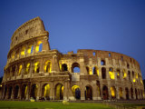 Exterior Amphitheater Ruins  Rome  Italy