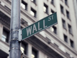 Wall Street Sign  Financial District  NYC  NY