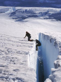 Climbers  Crevasse  Emmons Glacier  Mt Rainier  WA