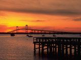 Newport Harbor and Newport Bridge  RI