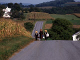 Amish Children  Lancaster County  PA