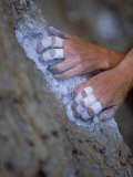 Close-up of Rock Climber's Hands  CA