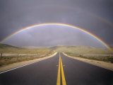 Rainbow Over Highway  CA