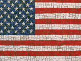 American Flag in Mosaic