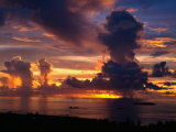 Sunset Over Harbor  Saipan