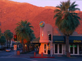 Sunset on Downtown Street  Palm Springs  CA