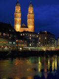 Evening  River Limmat  Zurich  Switzerland